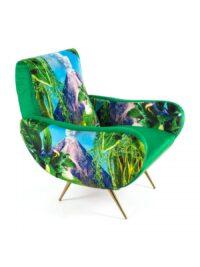Toiletpaper Chair - Multicolored Volcano | Seletti Green Maurizio Cattelan | Pierpaolo Ferrari