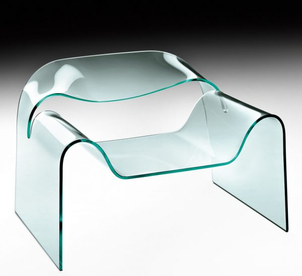 Low Transparent Ghost armchair FIAM Cini Boeri