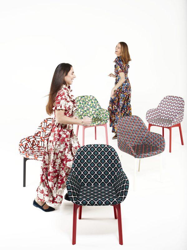 Sillón tapizado Clap La Double J Blanco | Ninfea Kartell Patricia Urquiola 2