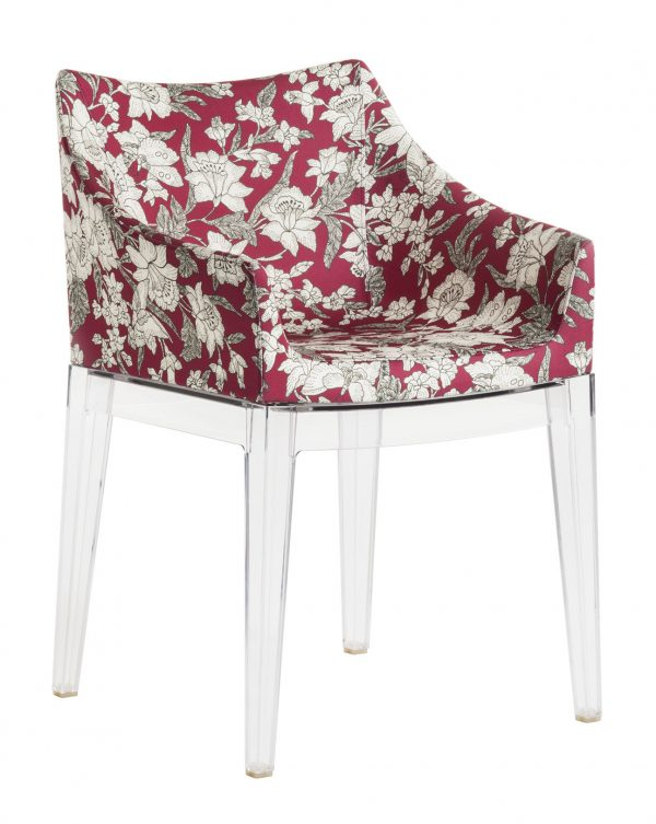 Madame La Double J padded armchair - Transparent | Lilium red Kartell Philippe Starck 1