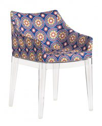 Madame La Double J upholstered armchair - Transparent | Kartell Philippe Starck Wheels 1