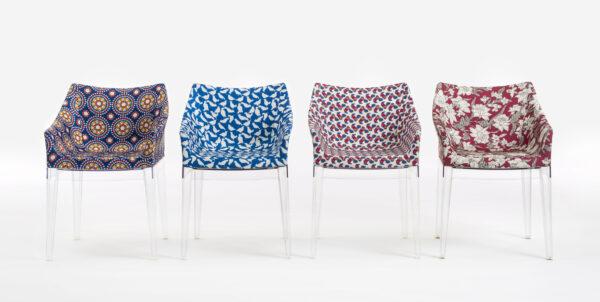 Poltrona estofada Madame La Double J - Transparente | Uccelini Kartell Philippe Starck 2