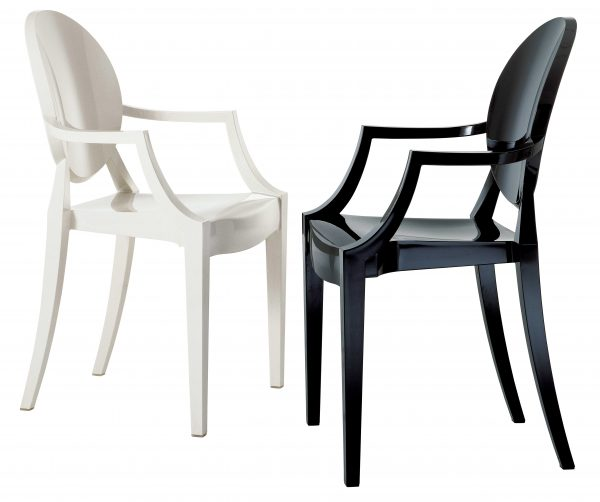 Louis Ghost stackable armchair Matt white Kartell Philippe Starck 2