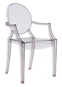Louis Ghost Fumé Kartell Philippe Starck 1 stackable armchair