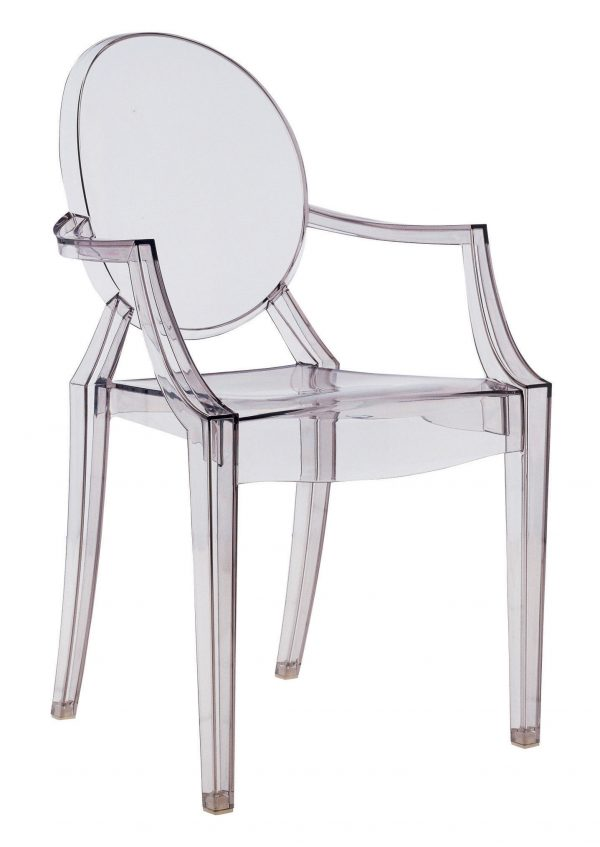 Fauteuil empilable Louis Ghost Fumé Kartell Philippe Starck 1