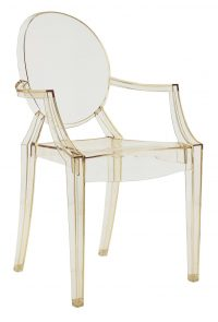 Louis Ghost stackable armchair Transparent yellow Kartell Philippe Starck 1