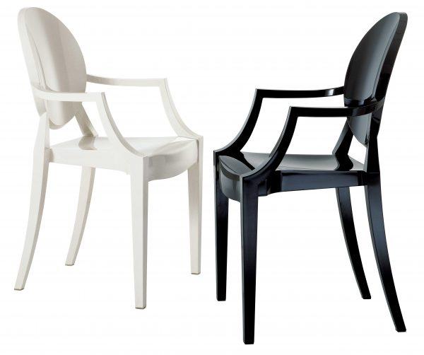 Stapelbarer Sessel Louis Ghost Matt schwarz Kartell Philippe Starck 2