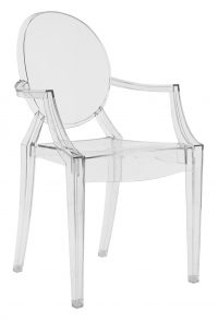 Louis Ghost Transparent Kartell Philippe Starck 1 στοιβαζόμενη πολυθρόνα