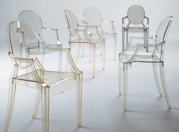 Louis Ghost stackable armchair Transparent green Kartell Philippe Starck 2