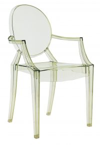 Stapelbarer Sessel Louis Ghost Transparent grün Kartell Philippe Starck 1