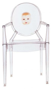 Stapelbarer Sessel Louis Ghost - Kind Transparent Kartell Philippe Starck 1