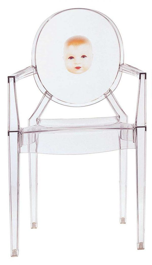 Louis Sentespri anpile fotèy - pitit Transparan Kartell Philippe Starck 1