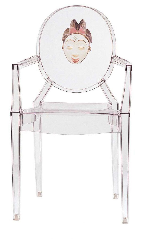 Louis Ghost sillón apilable - mujer china transparente Kartell Philippe Starck 1