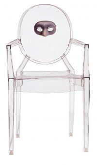 Louis Ghost stackable armchair - Kartell Philippe Starck 1 transparent mask