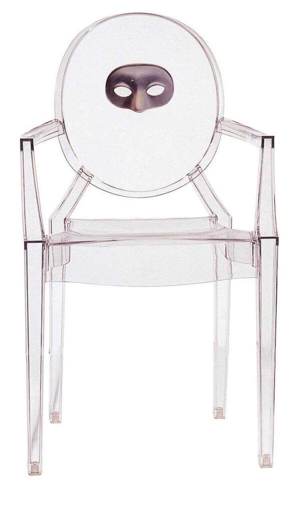 Poltrona impilabile Louis Ghost - maschera Trasparente Kartell Philippe Starck 1
