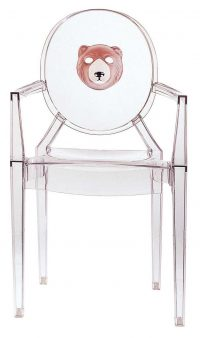 Fauteuil empilable Louis Ghost - Ours transparent Kartell Philippe Starck 1