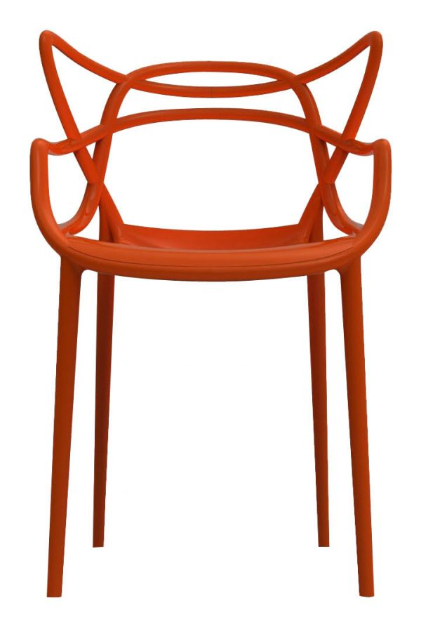 Masters stackable armchair Rust orange Kartell Philippe Starck | Eugeni Quitllet 1