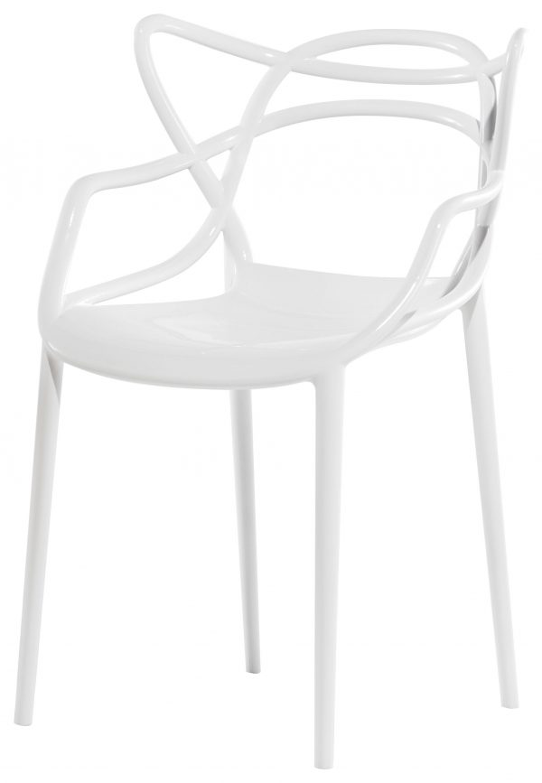 Sillón apilable Masters Kartell blanco Philippe Starck | Eugeni Quitllet 1