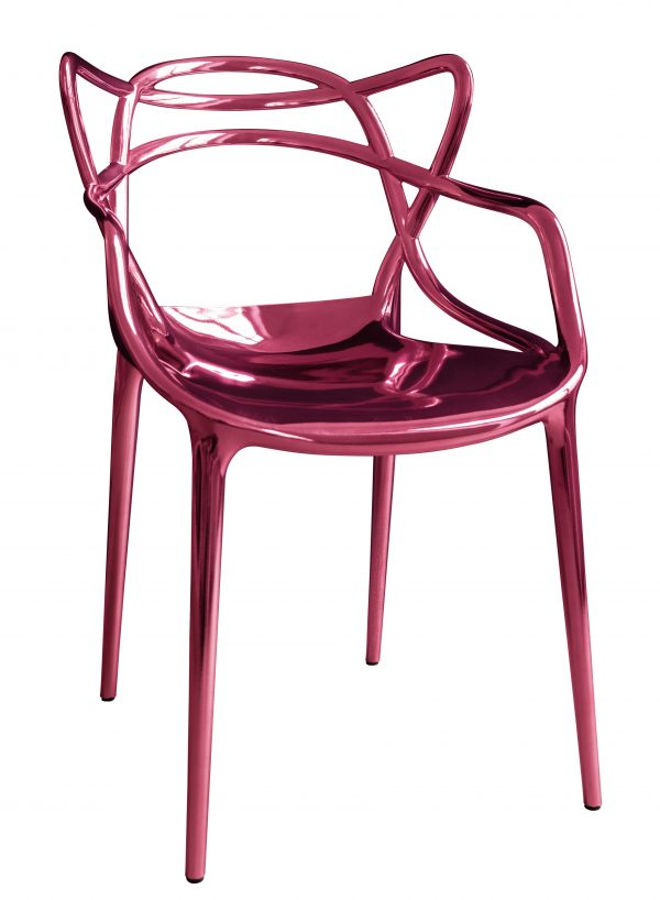 Masters stackable armchair - Limited edition 20 years MID Metallic pink Kartell Philippe Starck | Eugeni Quitllet 1