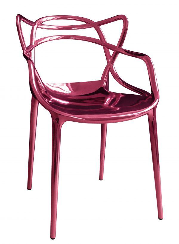 マスタースタッカブルアームチェア-限定版20年MIDメタリックピンクKartell Philippe Starck | Eugeni Quitllet 1