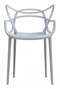 Masters stackable armchair Gray Kartell Philippe Starck | Eugeni Quitllet 1