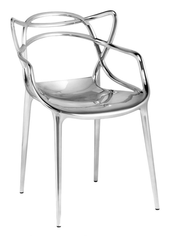 Masters Stackable Armchair - Metallic Chrome Kartell Philippe Starck | Eugeni Quitllet 1
