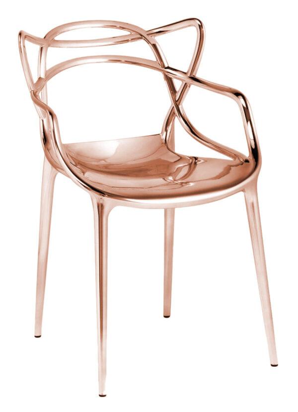 Masters Stapelbarer Sessel - Metallic Copper Kartell Philippe Starck | Eugeni Quitllet 1