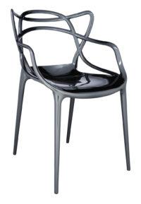 Fauteuil empilable Masters - Titane métallisé Kartell Philippe Starck | Eugeni Quitllet 1