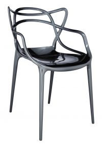 Poltrona impilabile Masters - Metallizzato Titanio Kartell Philippe Starck|Eugeni Quitllet 1