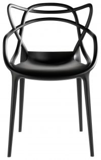 Masters Black Kartell Philippe Starck stackable armchair | Eugeni Quitllet 1