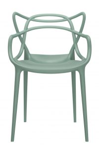 Fauteuil empilable Masters Vert sauge Kartell Philippe Starck | Eugeni Quitllet 1