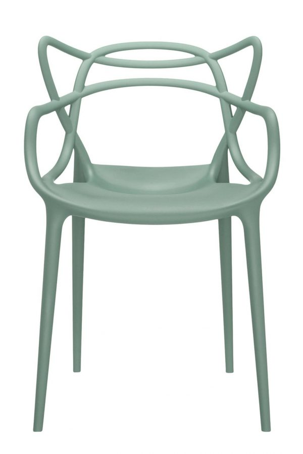 Masters stackable armchair Sage green Kartell Philippe Starck | Eugeni Quitllet 1