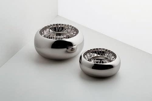 Cendrier grand brillant Inox Spirale Alessi Achille Castiglioni 2