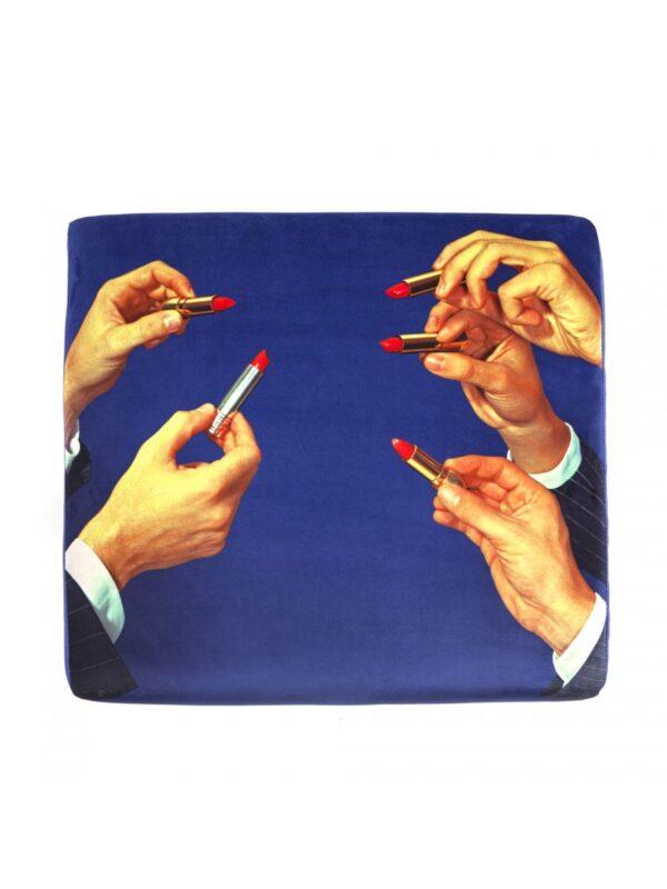 Pouf Toiletpaper - Lipsticks Multicolore|Blu Seletti Maurizio Cattelan|Pierpaolo Ferrari