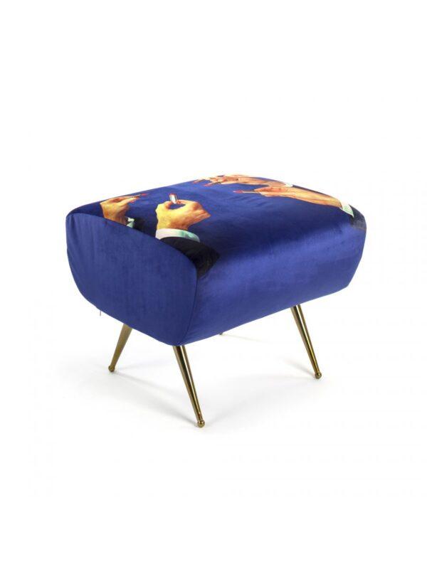 Papel de baño Pouf - Lápices labiales multicolores | Azul Seletti Maurizio Cattelan | Pierpaolo Ferrari