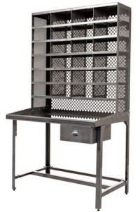 Mobile desk for sorting color steel Tolix Xavier Pauchard 1