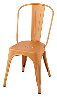 Ein rostiger Stuhl Xavier Pauchard Tolix orange 3 1