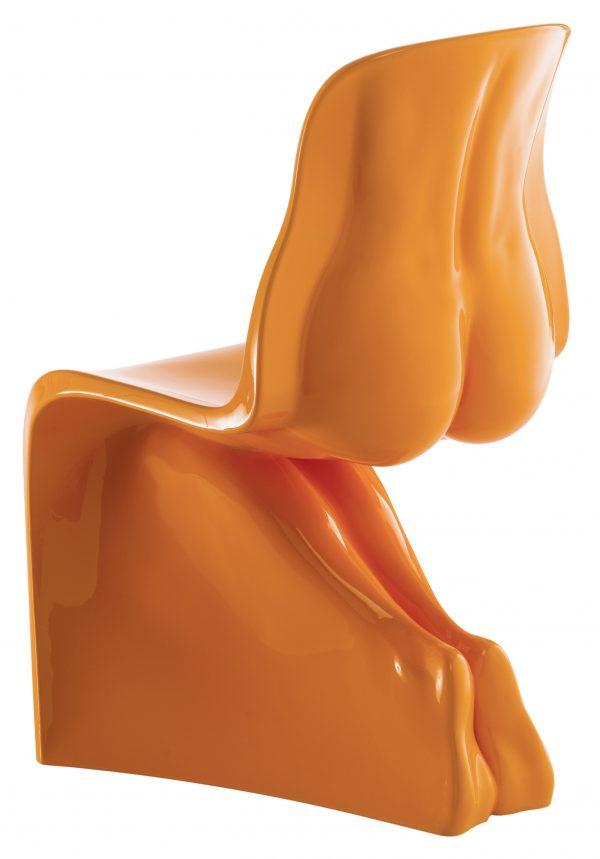 Her chair - Casamania Orange November lacquered version Fabio Novembre