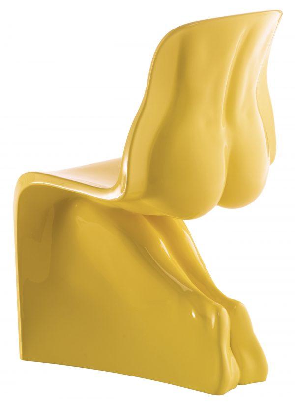 Sa chaise - Casamania Version laquée jaune Fabio Novembre