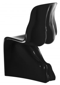 Her chair - Casamania Black lacquered version Fabio Novembre