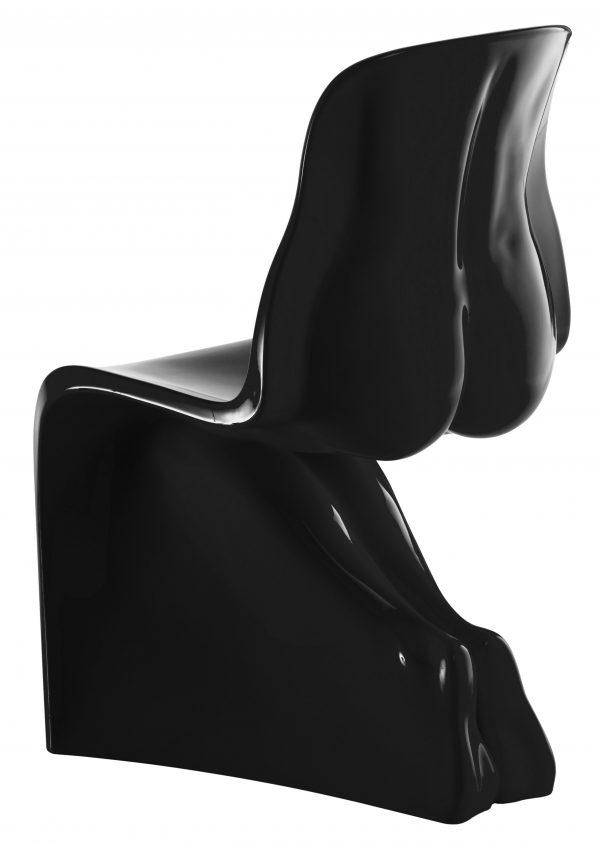 Sa chaise - Casamania Version laquée noire Fabio Novembre