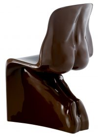 Chaise Him - Casamania version laque marron Fabio Novembre