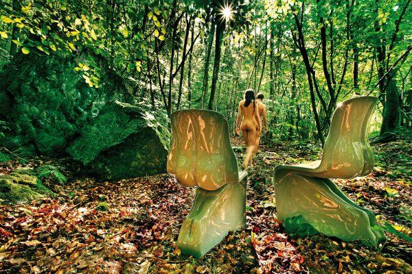 彼の椅子-薄緑色の漆塗りバージョンカサマニアファビオノベンブレ