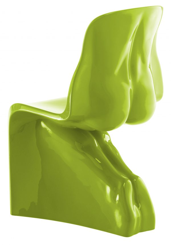 Chaise Him - Version laquée vert clair Casamania Fabio Novembre