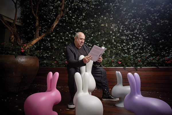 Rabbit Chair Pink Qeeboo Stefano Giovannoni 2