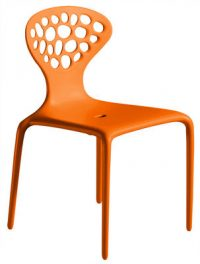 Silla anaranjada Supernatural Moroso Ross Lovegrove 1