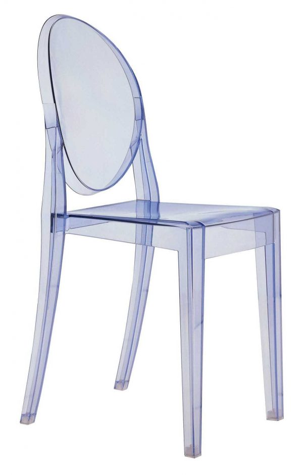 Victoria Ghost stackable chair Light blue Kartell Philippe Starck 1