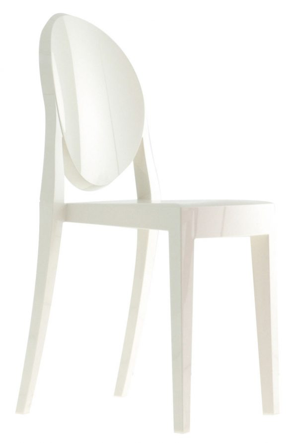 Chaise empilable Victoria Ghost Blanc mat Kartell Philippe Starck 1