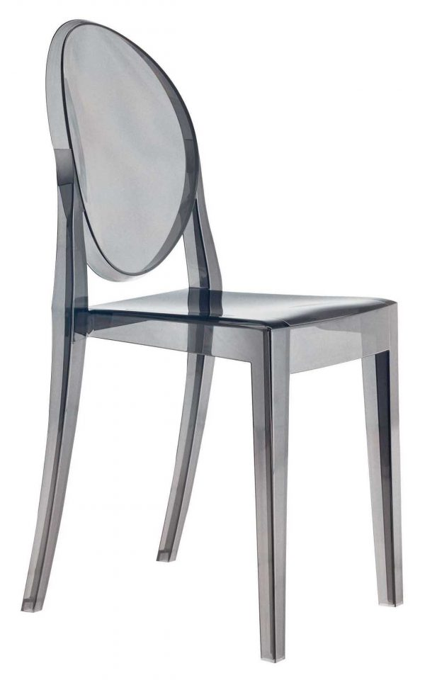 Chaise empilable Victoria Ghost Fumé Kartell Philippe Starck 1
