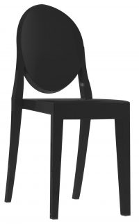 Victoria Ghost stackable chair Matt black Kartell Philippe Starck 1